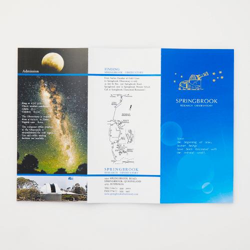 スターネーミングギフト 天文台のリーフレット